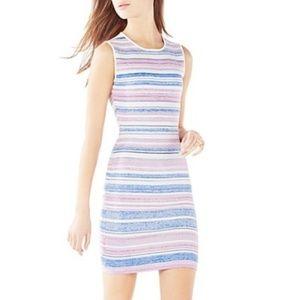 BCBG Jacquard Striped Bodycon Dress - Sz S - NWT
